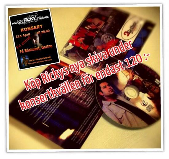 Det finns möjlighet att köpa Rickys senaste skiva under konsertkvällen.