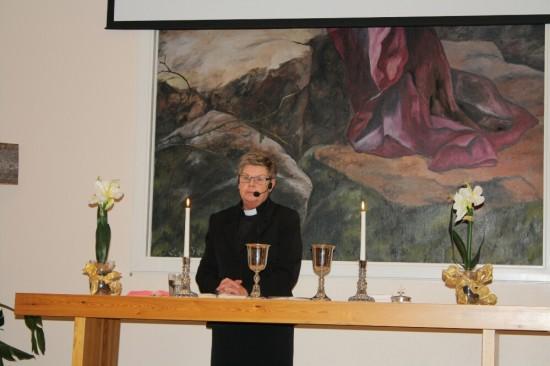 Birgitta Blomqvist höll i nattvardsfirandet