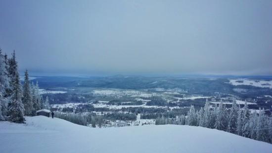 Ett molnigt men ändå vackert Solberg dessa dagar med en temperatur runt 2-5 minusgrader