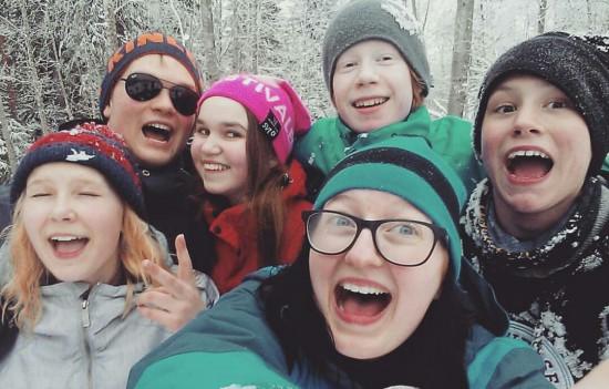 Glada miner från tonårslägret! (Foto: Lotta Nordlöf)
